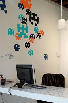 Awesome 8-bit wall stickers.