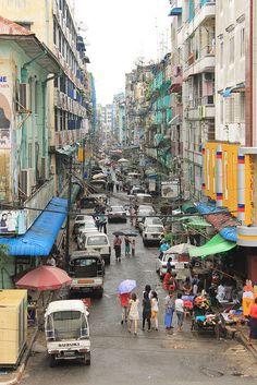 Alleyway - Yangon, Myanmar Places Ive Been, Places To Go, Nice Photography, Alleyway, Yangon, Bhutan, Anthropology, Brunei, Tibet
