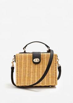Bamboo basket bag -  Woman | MANGO United Kingdom