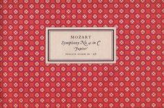 Penguin Scores no. 10: 1951    Publisher: Penguin Books / Series: Penguin Scores / Designer: Jan Tschichold / Year: 1951 / Pattern by Elizabeth Friedlander