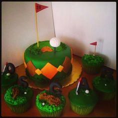 mini cake y cupcakes  golf