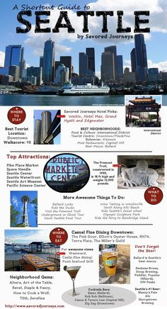 Traveling to Seattle? Check out this shortcut guide to Seattle, Washington, including top places to stay, things to do and where to eat and drink. Seattle Vacation, Vacation Spots, Seattle Weekend, Seattle City, Seattle Restaurants Downtown, Seattle To Do, Hotels In Seattle Washington, Seattle Places To Visit, Best Hotels In Seattle