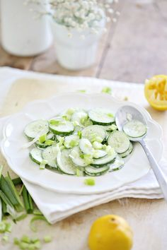 Beach Cottage Recipe Mizeria Cucumber Summer Salad