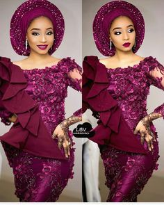 African women dress/ African lace dress for weddings/African peplum dress for engagements /Plus size african Aso Ebi Lace Styles, Lace Gown Styles, African Lace Styles, African Lace Dresses, African Dresses For Women, African Fashion Dresses, Ankara Styles, African Women, Nigerian Fashion