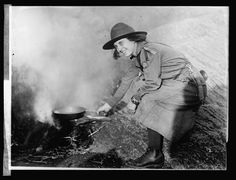 The Original Girl Scouts - Photos from the first 10 years - Cooking by the river 1920
