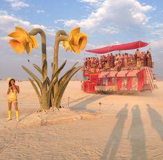 'Beauty Thru Urban Decay' Sculpture at Burning Man 2014 Burning Man 2014, Installation Art, Art Installations, Sculptures For Sale, Urban Decay, Mosaic, Fair Grounds, Bloom, Ceramics