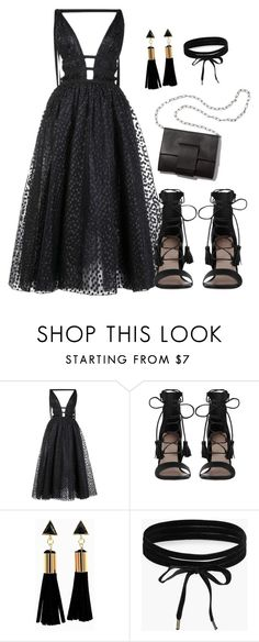 """Night out fun"" by pearlie-g8s on Polyvore featuring Carolina Herrera, Zimmermann, MM6 Maison Margiela and Boohoo"