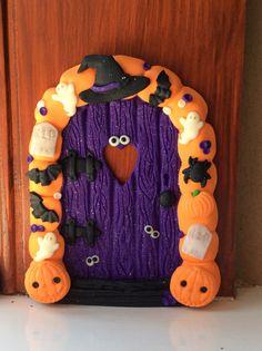 Halloween fairy door using Fimo. No link, just picture xx
