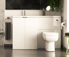MyDesign White 1200 L Shaped Combination Unit with Sink and Cistern LH - V50181117CU scene square medium