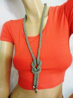 Handmade by Kreakette Crochet Necklace, Beaded Necklace, Handmade, Jewelry, Fashion, Deko, Jewerly, Nice Asses, Crochet Collar