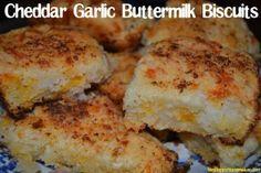 Cheddar Garlic Buttermilk Biscuits