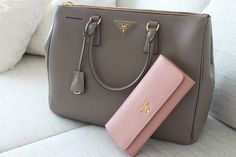 Prada Bag & Purse....Love them both and the combination...This grey shade is driving me crazy....So elegant...