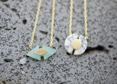 Various Figure geometry Pendant Necklace with Gemstone