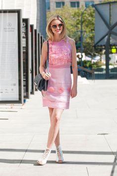 Rue du Mail dress, Willow shoes, Jimmy Chu bag, Celine glasses (@candicelake)