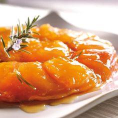Tatin abricots de nos régions au romarin