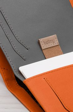 """""""We've learned a lot since the Note Sleeve was first introduced. Through a lot… Leather Passport Wallet, Slim Leather Wallet, Diy Leather Card Holder, Leather Working, Card Wallet, Leather Craft, Product Design, Bag Accessories, Gadgets"""