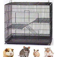Mcage New 3 Levels Ferret Chinchilla Sugar Glider Rats Animal Cage L x W x H with Tight Bar Spacing Chinchilla Cage, Ferret Cage, Rat Cage, Bird Cage, Sugar Glider Pet, Sugar Glider Cage, Sugar Gliders, Gerbil, Small Animal Cage
