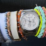 Michael Kors watch with neon bracelets