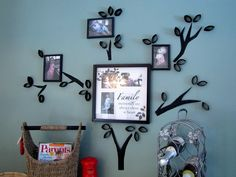 Make wall are with toilet paper rolls. This blog shows you step by step how to make this family tree wall art. Now to figure out what wall to put it on. Love this