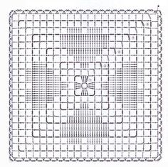 Kira Scheme Crochet: Scheme Crochet No. Granny Square Häkelanleitung, Crochet Square Blanket, Crochet Motifs, Granny Square Crochet Pattern, Crochet Pillow, Crochet Diagram, Crochet Stitches Patterns, Crochet Chart, Crochet Squares
