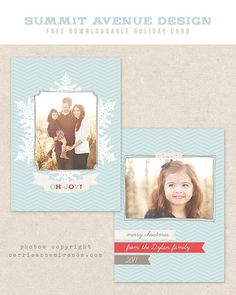 free Christmas card template for photoshop: www.facebook.com/...