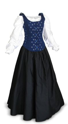 Renaissance Medieval Dress SCA GOT Faire Game of Thrones LOTR Extra Long Sleeves
