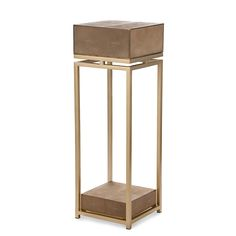 Pillar, CENTRY TABAC, resin stingray tabac and brass square frame. Fine Furniture, Table Furniture, Luxury Furniture, Antique Furniture, Furniture Design, Sculpture Stand, Furniture Inspiration, Furniture Collection, Home Decor Accessories