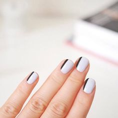 Black & White #chic nails