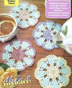 Crochet Pattern for Flower Coasters