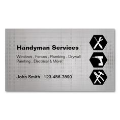 Shop Handyman construction remodeling business cards created by BlackEyesDrawing. Yellow Accent Chairs, Construction Business Cards, Tile Covers, Bike Frame, Cushions On Sofa, Working Area, Logos, Logo Design, Branding Design