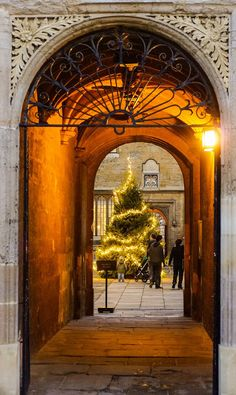 Bodleian Library passage at Christmas. | 32 Photos That Prove Oxford Is An Awe-Inspiring Wonderland