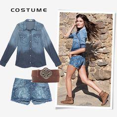 Compre moda com conteúdo, www.oqvestir.com.br #Fashion #Costume #Pretty #Summer #Looks #Jeans