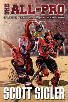 The All-Pro (The Galactic Football League) by Scott Sigler http://www.amazon.com/dp/1939366925/ref=cm_sw_r_pi_dp_p4sEub1HXP3KX