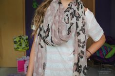 leopard print scarf. ♡
