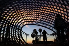 deck at the new Tongva Park in Santa Monica. The six acre park ...