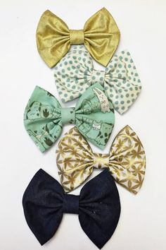 "LOVE these flat bows for toddler/little girls!  Lola loves them to ""grace"" her pony tail :)"