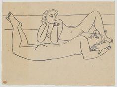 Deux baigneuses allongées sur une plage, Picasso Pablo, Réunion des Musées Nationaux-Grand Palais -
