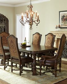 Horchow Colette Dining Room Furniture - home decor / multi color brown