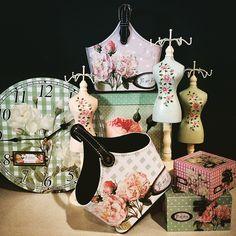 #MandarinaHome #Mandarina #busto #caja #portamandos #reloj #decoración #regalo #rosa #lunares #cuadros #rose #primavera #primavera2015