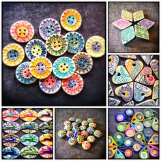 Colorful Polymer Clay Pendants & Beads - Lorelei's Blog: Wowza COLOR Explosion!
