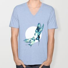Birds V-neck T-shirt by Nuam | Society6  ☀ ☀ ☀    #Bird, #Vector, #Swallow, #Spring, #Nature, #Birds, #Animal, #Animals, #Illustration, #Love, #Family, #Trust, #Feed, #Food, #Hipster, #Swallows, #Care, #Fly, #Spring, #Wings, #TwoBirds, #Romantic, #Bohemian, #Fly, #Flying #FlyingBird, #FlyingBirds #Decorative #tee #tshirt #vneck #clothing #newstyle #fresh #tanktop #summer #summerware Family Trust, Spring Nature, Swallows, V Neck T Shirt, I Shop, Wings, Hipster, Bohemian, Romantic