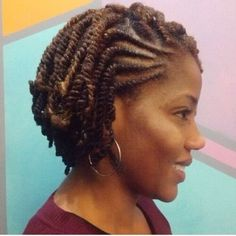65 Kinky Twists Styles You Must Try! - Part 34 If you're looking for a versatile protective style, take a look and try one of these 65 beautiful chic and inspiring Kinky twists styles (photos included)! Comb Twist, Flat Twist Updo, Twist Braids, Kid Braids, Two Strand Twists, Short Braids, Double Strand Twist, Fishtail Plaits, 4c Hair