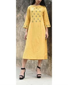 Ochre Peasant Dress I Shop at :http://www.thesecretlabel.com/ekadi