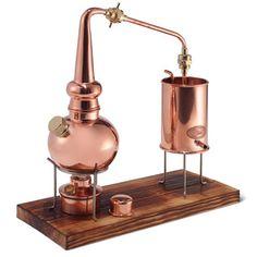 The Classic German Copper Distiller - Hammacher Schlemmer. Make your own essential oils!