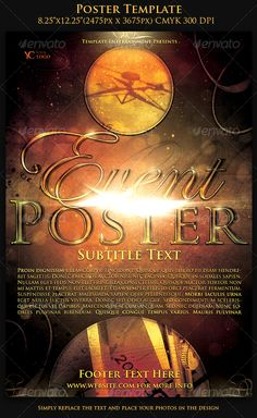 Poster Template — Photoshop PSD #flyer #gold • Available here → https://graphicriver.net/item/poster-template/111099?ref=pxcr