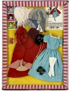 "Barbie Little Theatre Costume, ""Red Riding Hood & The Wolf,"" 1960's"