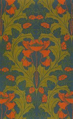 Textile design by Harry Napper 1899