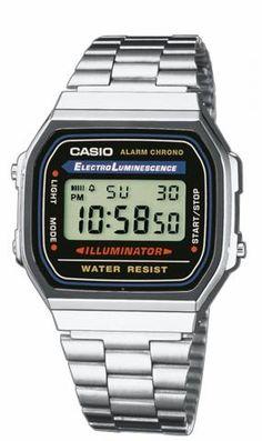CASIO RETRO HORLOGE A168WA-1YES |  Op http://www.horlogesstyle.nl/casio-retro-horloges koop je jouw Casio Retro tegen de meest gunstige condities #casio #casioretro #retro