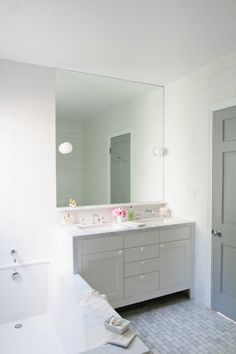Ways with white - mix with a little grey and marble for contrast.