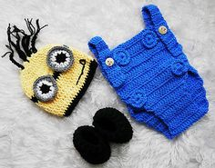 Despicable Me Monster Infant Knitted Crochet Costume Photo Photography Prop L60 | eBay